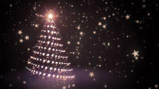 Golden Sparkling Christmas Tree