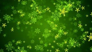Green Christmas Snow Flakes