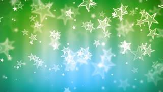 Green Glassy Stars