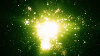 Green Light Particle snowflakes