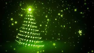 Green Sparkling Christmas Tree