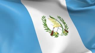 Guatemala Waving Flag Background Loop