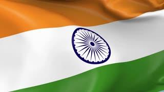 India Waving Flag Background Loop