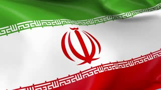 Iran Waving Flag Background Loop