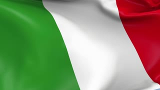 Italy Waving Flag Background Loop