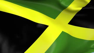 Jamaica Waving Flag Background Loop