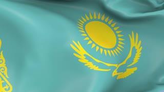 Kazakhstan Waving Flag Background Loop