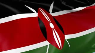 Kenya Waving Flag Background Loop
