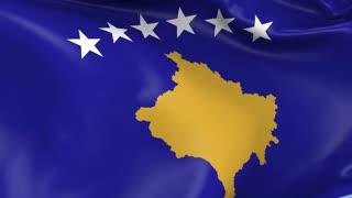 Kosovo Waving Flag Background Loop