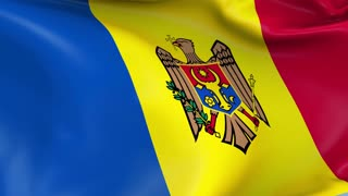 Moldova Waving Flag Background Loop