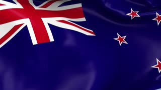 New Zealand Waving Flag Background Loop