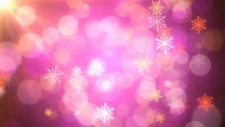 Pink Holiday Light Snow