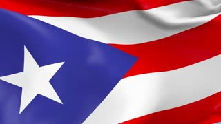 Puerto Rico Waving Flag Background Loop