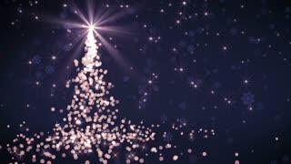 Purple Falling Lights Christmas tree