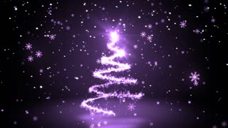 Purple Glittering Sparkles christmas Tree