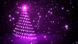 Purple Sparkling Christmas Tree