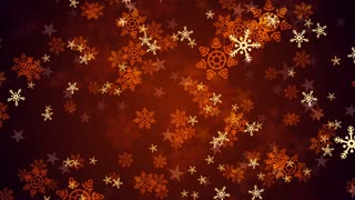 Red Christmas Snow Flakes