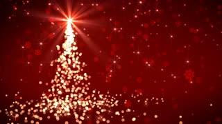 Red Falling Lights Christmas Tree
