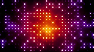 Red Glittering Light Grid
