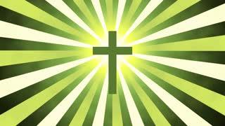 Retro Sunburst Cross