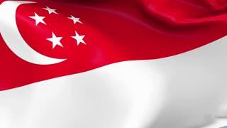 Singapore Waving Flag Background Loop