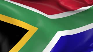 South Africa Waving Flag Background Loop