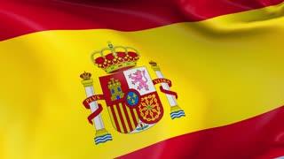 Spain Waving Flag Background Loop