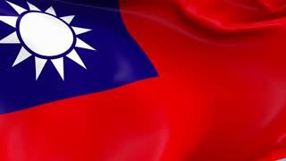 Taiwan Waving Flag Background Loop