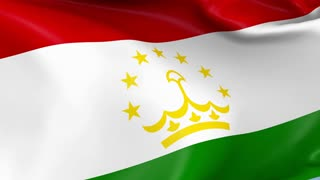 Tajikistan Waving Flag Background Loop
