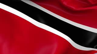 Trinidad and Tobago Waving Flag Background Loop