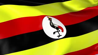 Uganda Waving Flag Background Loop