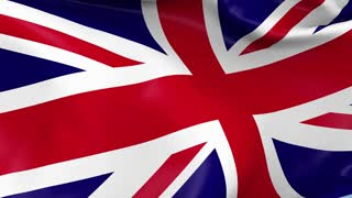 United Kingdom Waving Flag Background Loop