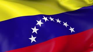 Venezuela Waving Flag Background Loop