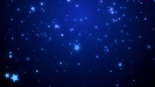 Blue Falling Glitter Stars