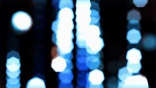 Blue Light Glitter Rain Bokeh