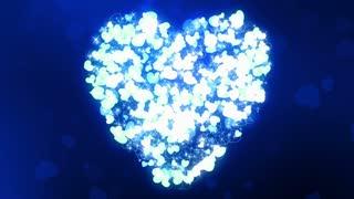 Glittering Wedding Hearts Blue