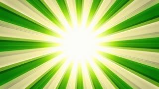 Glossy Light Rays Green