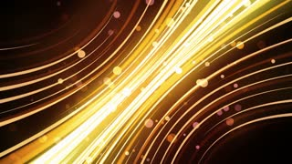 Golden Neon Glow Streaks