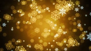 Golden Snow Flakes