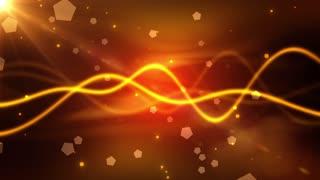 Golden Waves Particles