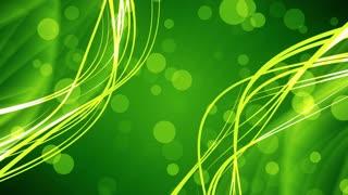 Green Bokeh Flow Streaks