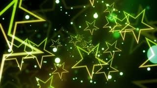 Green Glittering Celebration Star