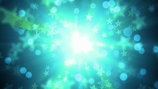 Green Glittering Holiday Stars