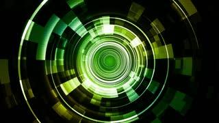 Green Hi-Tech Space Technology Streaks