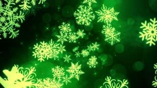 Green Holiday Snow Flakes