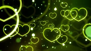 Green Loving Hearts Forever