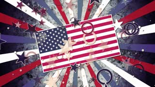 Grunge Patriotic Stars and Stripes