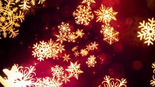 Red Holiday Snow Flakes