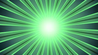 Retro Light Rays Green