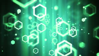 Technology Hexagon Shapes